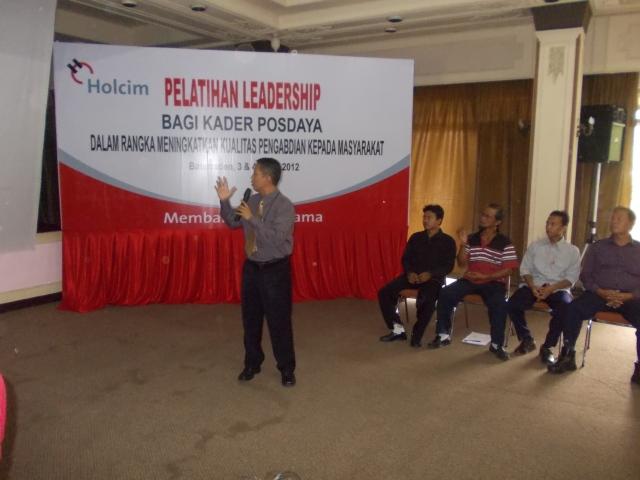 Leadership Training For CSR PT Holcim Cilacap